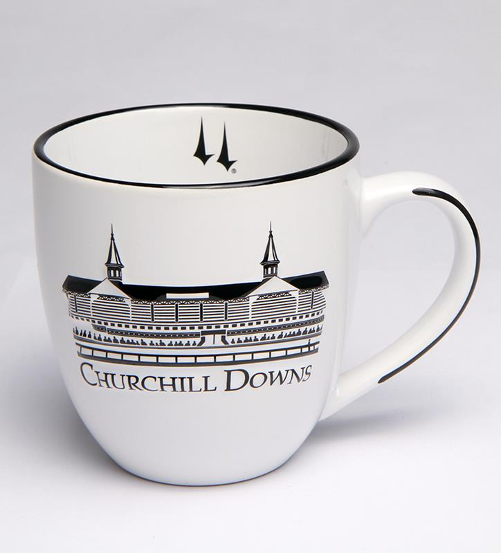 Churchill Downs White Grandstand Bistro Mug,38208088