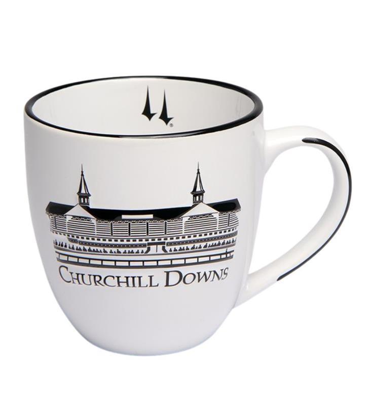 Churchill Downs White Grandstand Bistro Mug,38208088