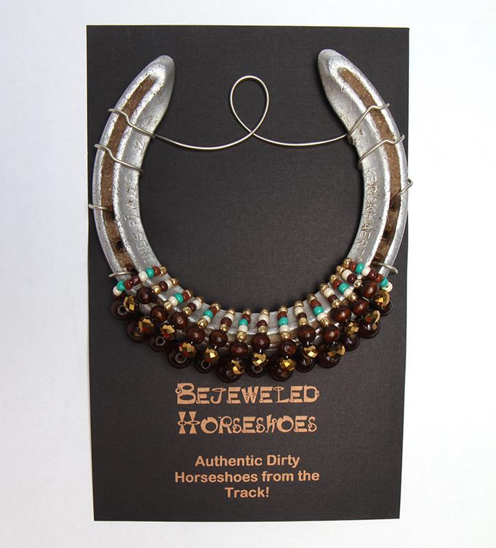Chestnut Bejeweled Horseshoe,Bejeweld Horseshoes,CHESTNUT BROWN