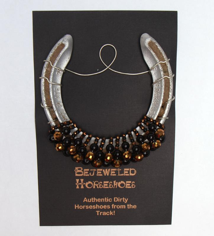 Black Gold Bejeweled Horseshoe,Bejeweld Horseshoes,BLACK GOLD HS