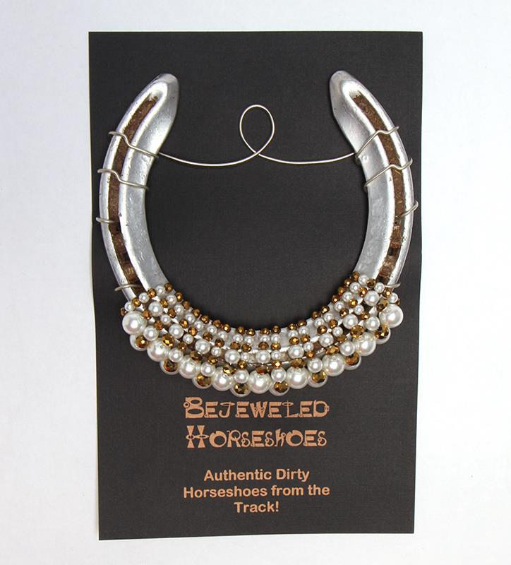 White Gold Bejeweled Horseshoe,Bejeweld Horseshoes,WHITE GOLD HS