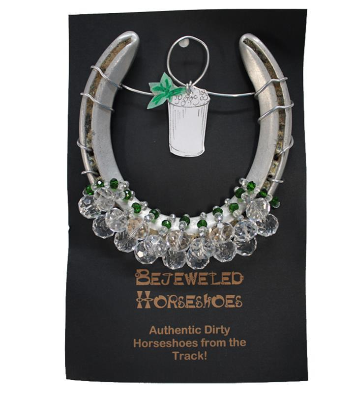 Mint Julep Bejeweled Horseshoe,MINT JULEP HS