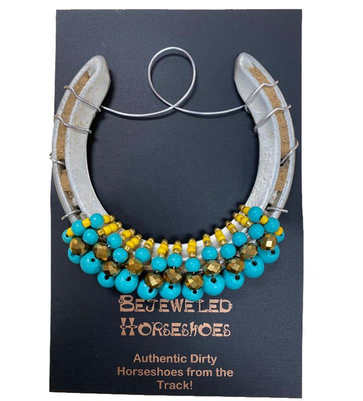 Triple Crown Bejeweled Horseshoe,Bejeweld Horseshoes,3 X CROWN HS