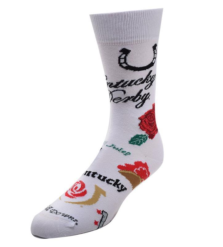 Kentucky Derby Collage Socks,505-7 889536331020