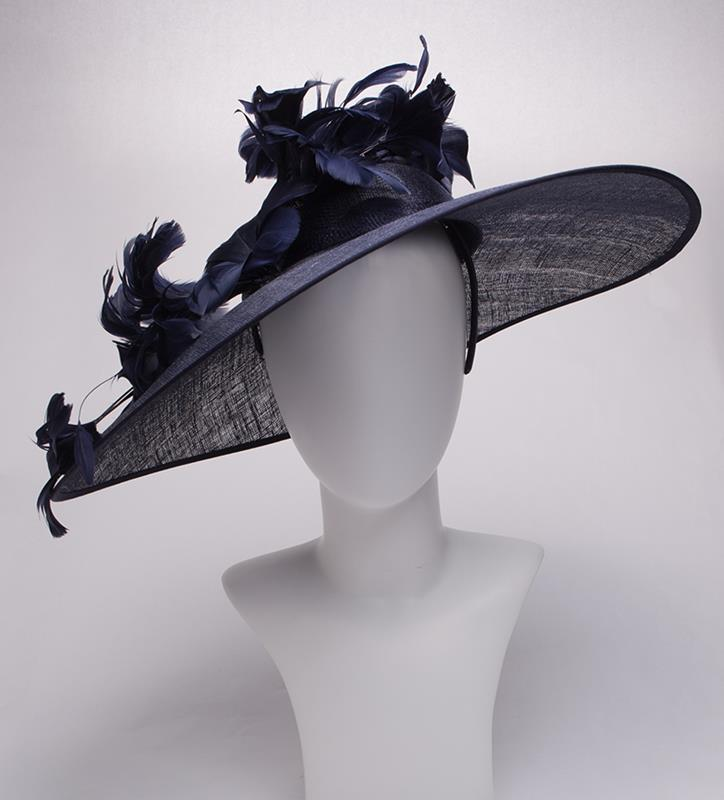The Feather Flower Saucer Hatinator,LDF52-ASST NAVY
