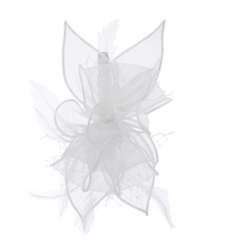 The Violetta Clip Fascinator,LDF61-WHITE
