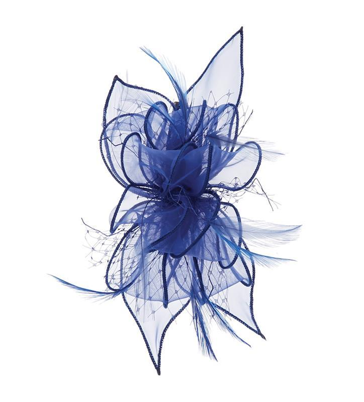 The Violetta Clip Fascinator,LDF61-ROYAL