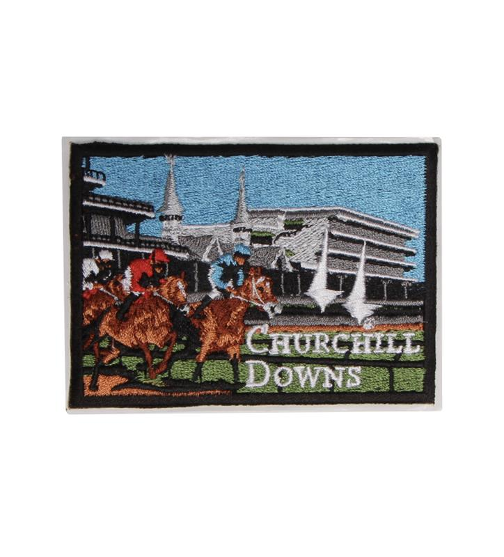 Churchill Downs Embroidered Grandstand Patch,KIW0035 CD GRANDSTAN