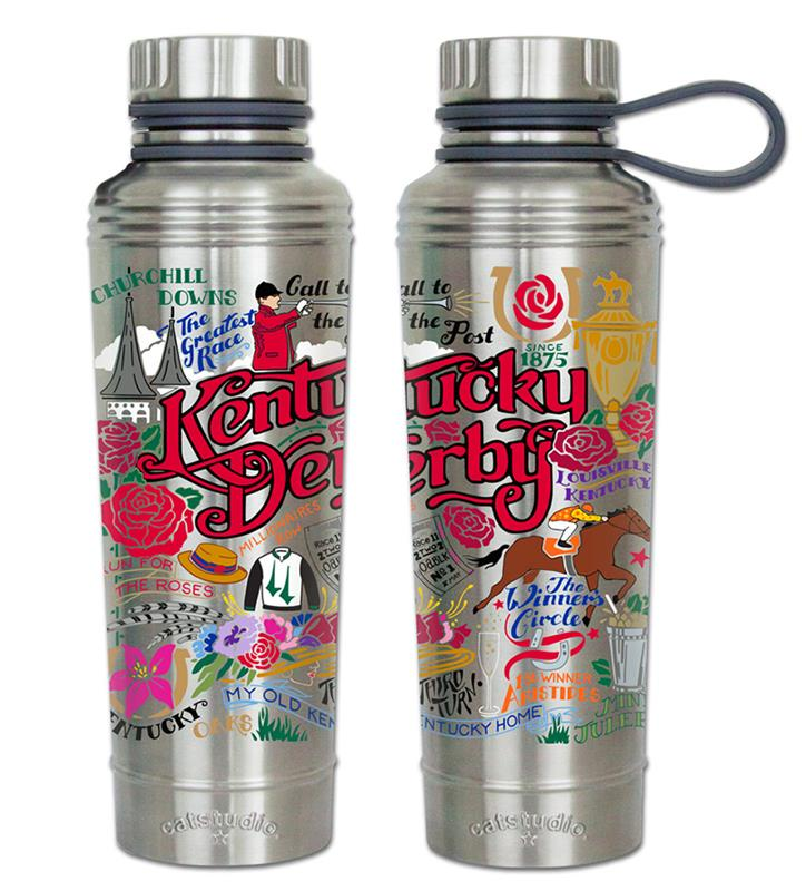 Kentucky Derby Catstudio Thermal Bottle,THERMAL BOTTLE