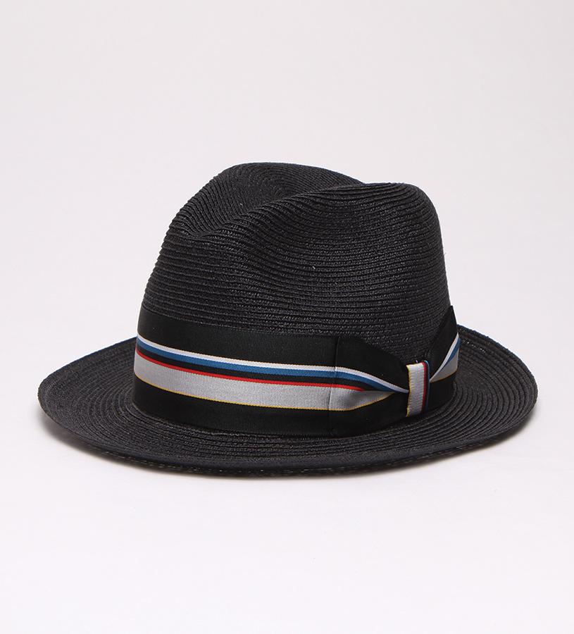 """""""Black Jacket"""" Straw Fedora,BS 5747BKJA-BLACK"""