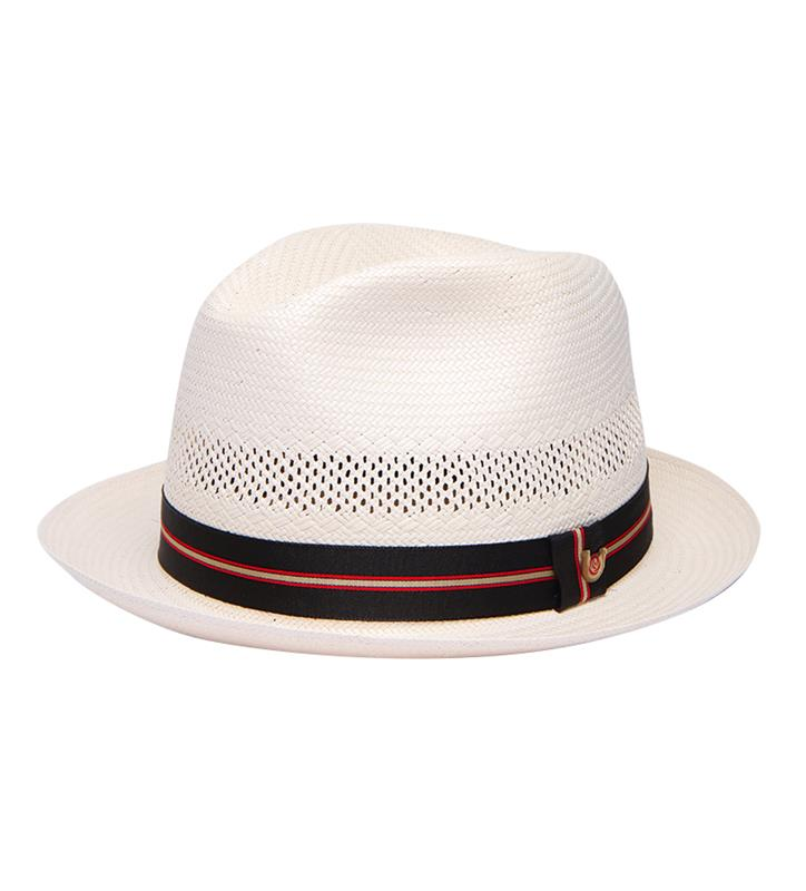 """Basic and Good Looking"" Straw Fedora,BS 3047KDAA-IVORY"