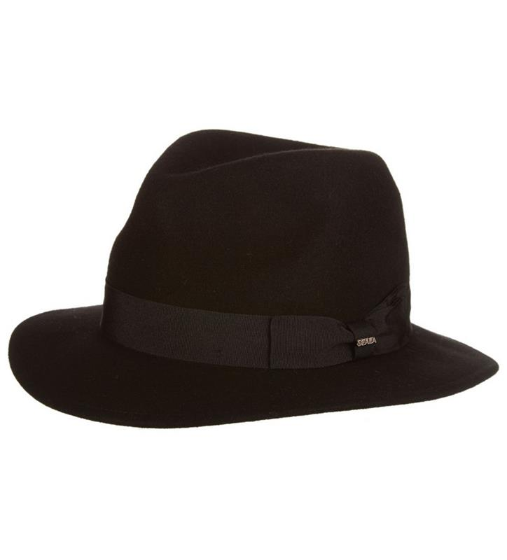 Men's Featherweight Crushable Fedora,DF179-BLACK