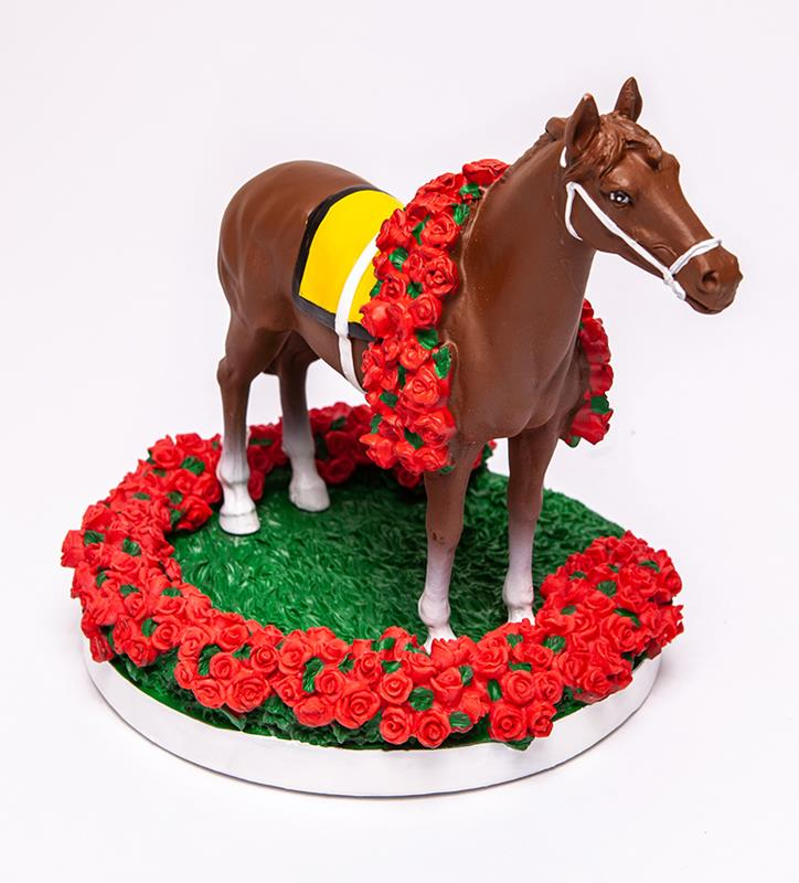 Kentucky Derby Winner's Circle Collectible Figurine,KD HORSE FIGURINE 8""