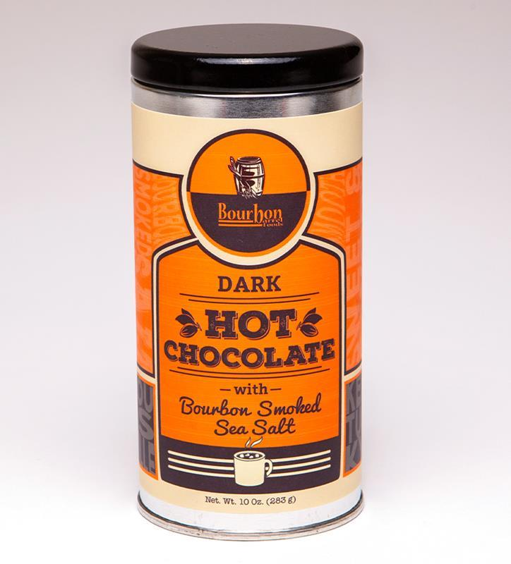 Dark Hot Chocolate with Bourbon Smoked Sea Salt,HOT CHOCOLATE