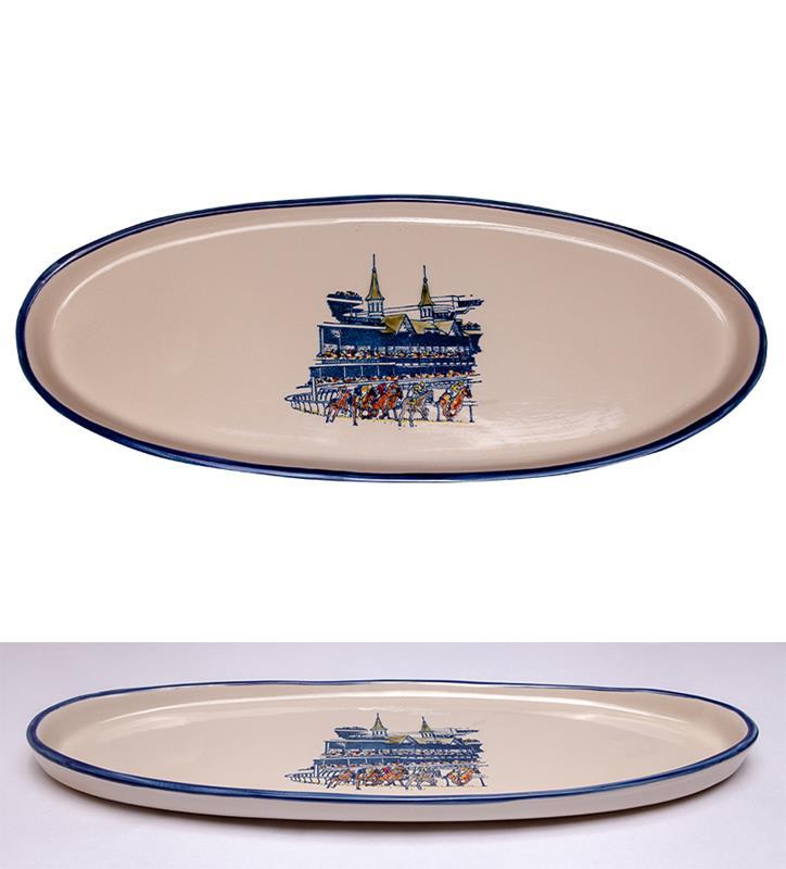 Grandstand Platter by Louisville Stoneware,Louisville Stoneware,GRAND PLATTER EX