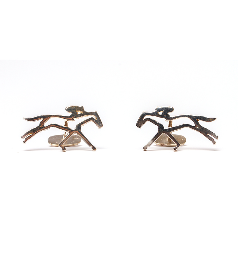 542-18 Horse and Jockey Modern Cufflinks,Darren K. Moore,542-18 CUFFLINK