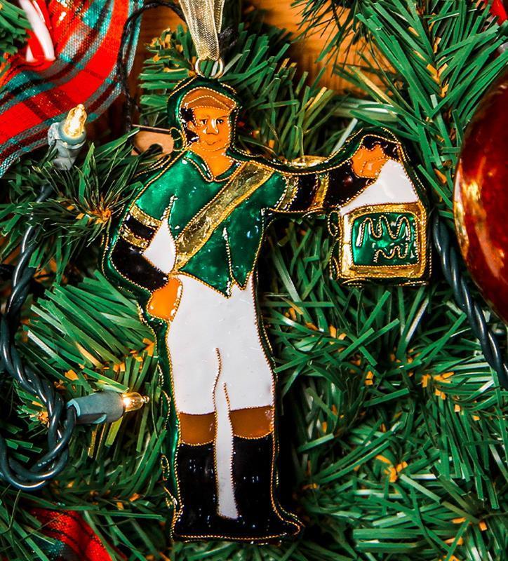 Lawn Jockey Cloisonne Ornament by Kitty Keller,#12869-O