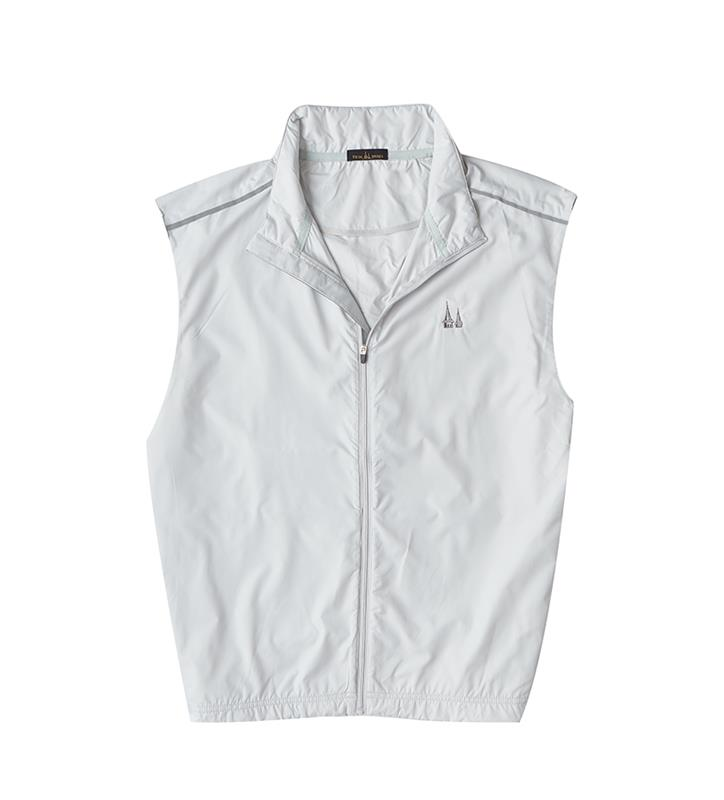 Churchill Downs Spires Logo Full Zip Vest,Twin Spires Collection,IS64905VES-CLOUD