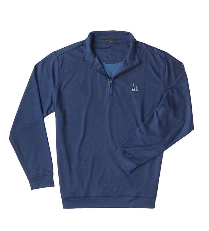 Churchill Downs Spires Logo 1/4 Zip Jacket,Twin Spires Collection,IS66308HZ-NAVY