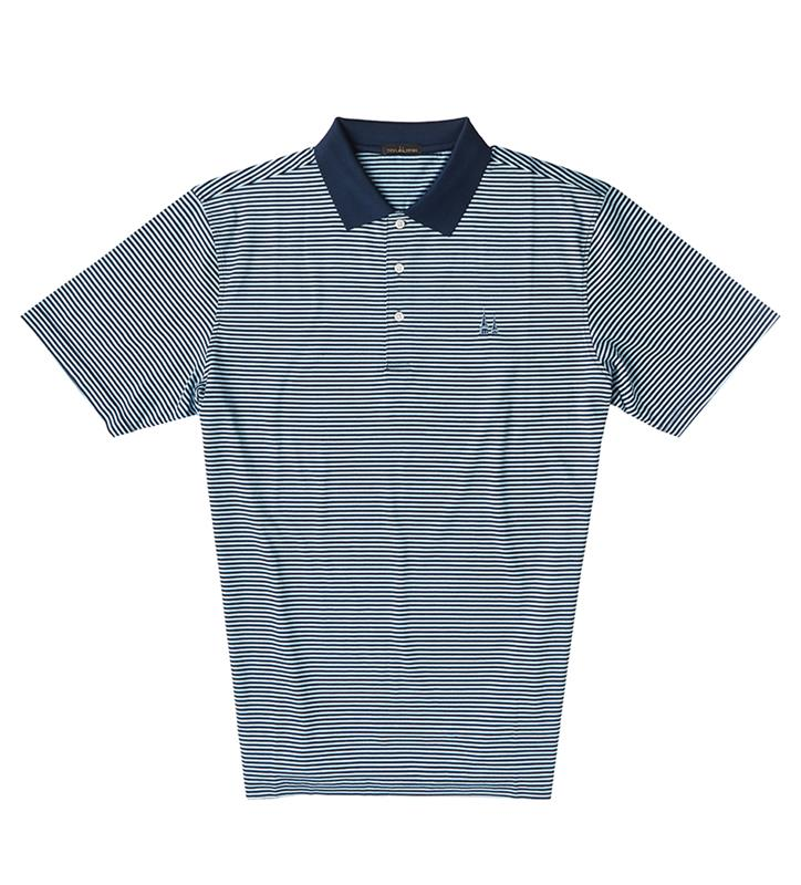 Churchill Downs Spires Logo Polo,Twin Spires Collection,IS22210A-NAVYMAUI