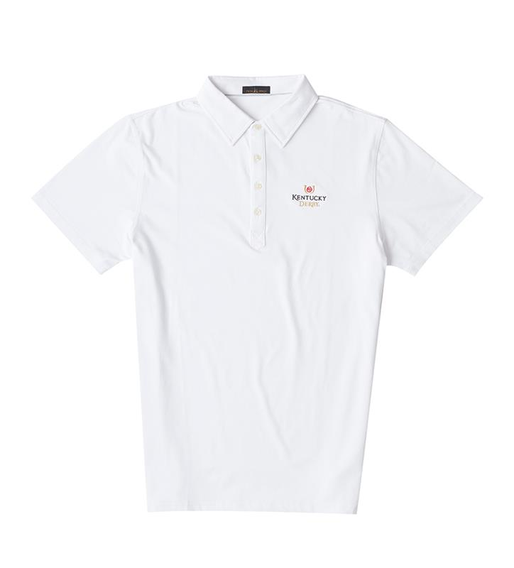 Kentucky Derby Logo Polo,Twin Spires Collection,IS72400-WHITE