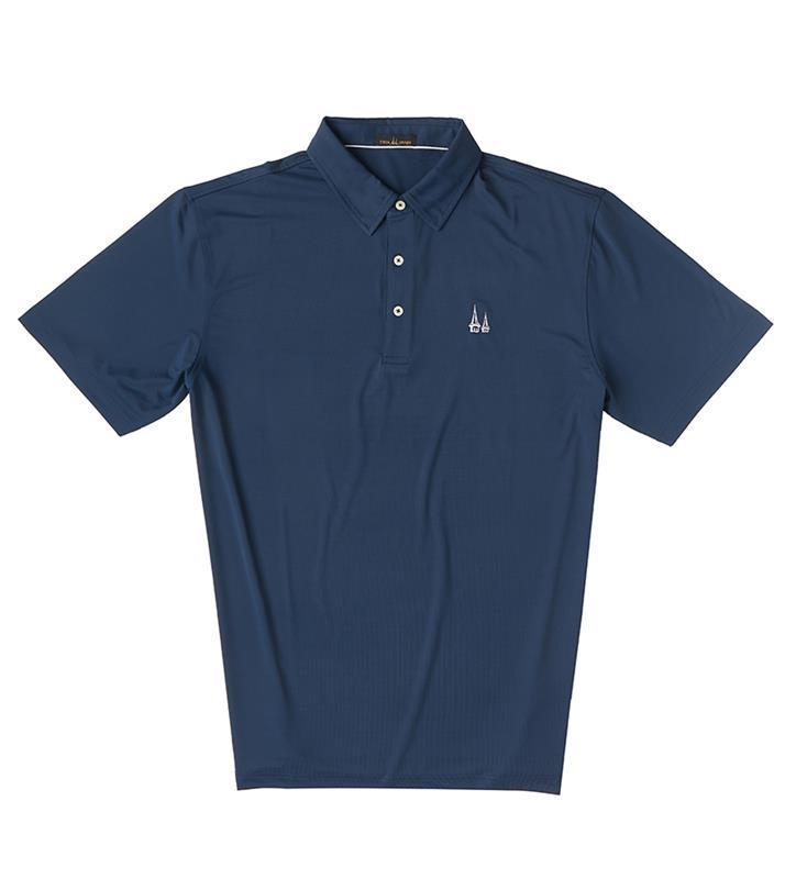Churchill Downs Spires Logo Solid Polo,Twin Spires Collection,IS26000-NAVY