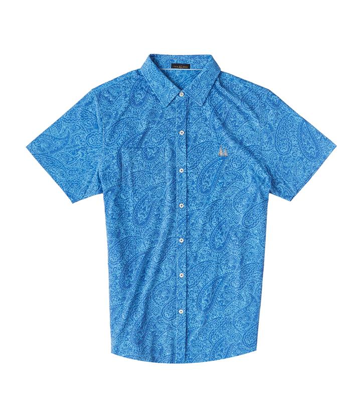 Churchill Downs Spires Paisley Men's Shirt,Twin Spires Collection,IS82440-NAU