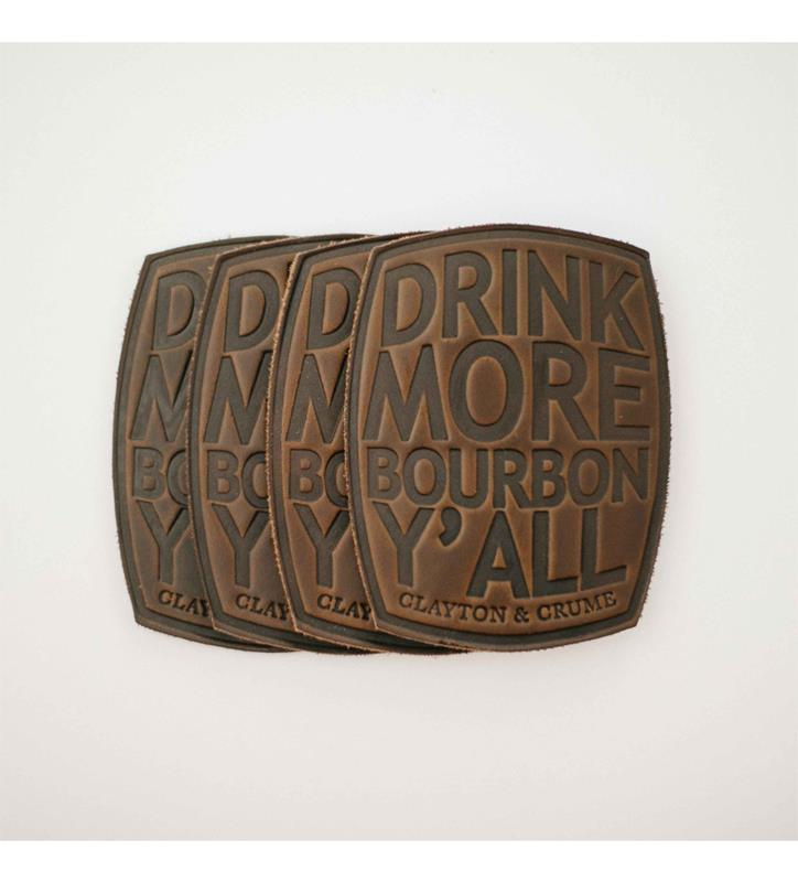 """Drink More Bourbon Ya'll"" Coasters by Clayton & Crume"