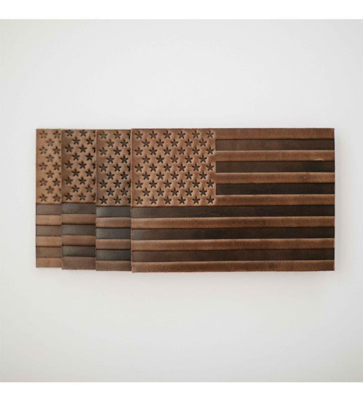 'Merica Leather Coasters by Clayton & Crume,'MERICA COAST