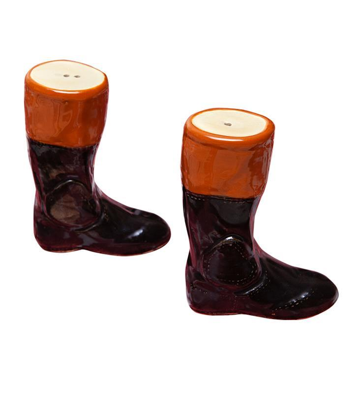 Racing Boot Salt and Pepper Shakers by Louisville Stoneware,Louisville Stoneware,SALT & PEPPER