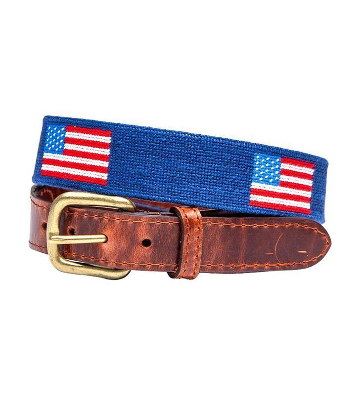 American Flag Belt by Smathers & Branson,Smathers & Branson,AM FLAG BELT