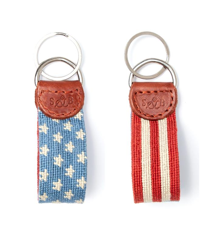 Old Glory Key Fob by Smathers & Branson,Smathers & Branson,OLD GLORY KEY FOB