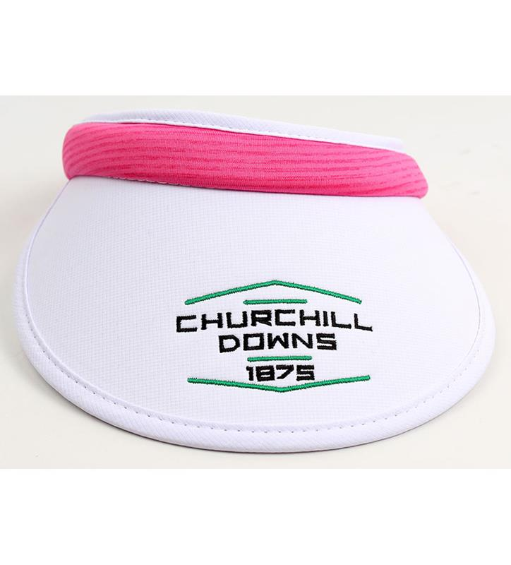 Churchill Downs Ladies' Textured Visor,C68TN2-865W-SCYO#180