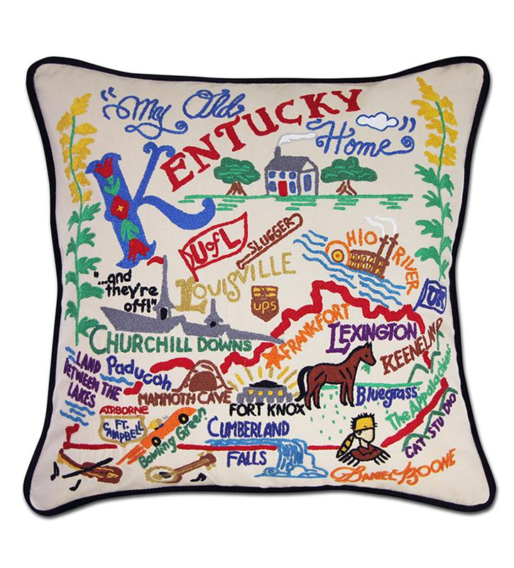 Catstudio Kentucky Embroidered Pillow