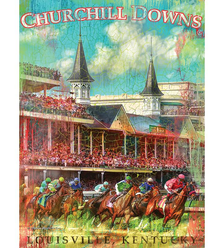 Churchill Downs First Turn Giclee Canvas,4361 GICLEE