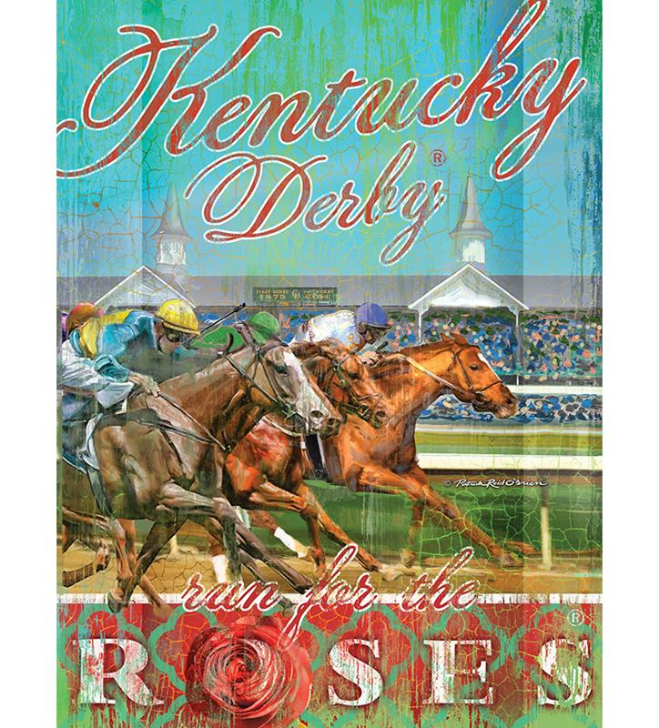 Run for the Roses Giclee Canvas,4450 GICLEE