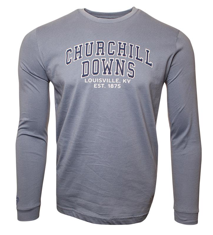 Churchill Downs Long-Sleeve Block Tee,ST48-2-DOWNS#009