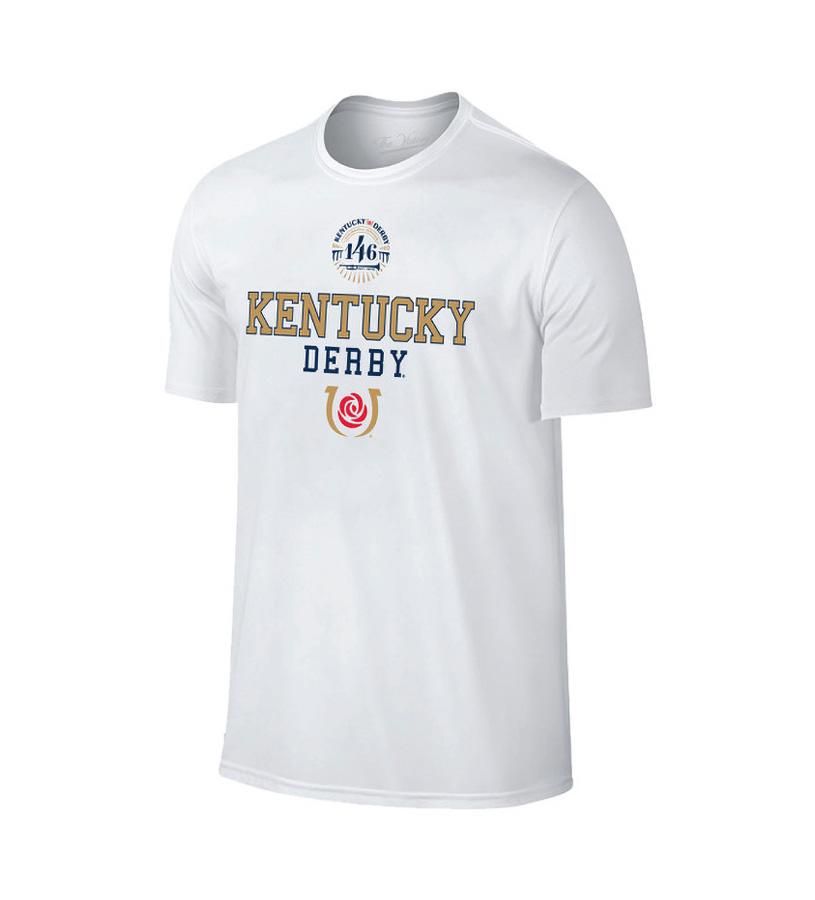 Kentucky Derby 146 Retro Logo Icon Tee,Retro Brands,TV2001-VKD9525A-WHT