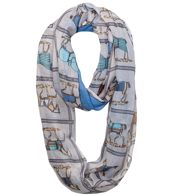 Horse in Blanket Infinity Scarf,GG1051