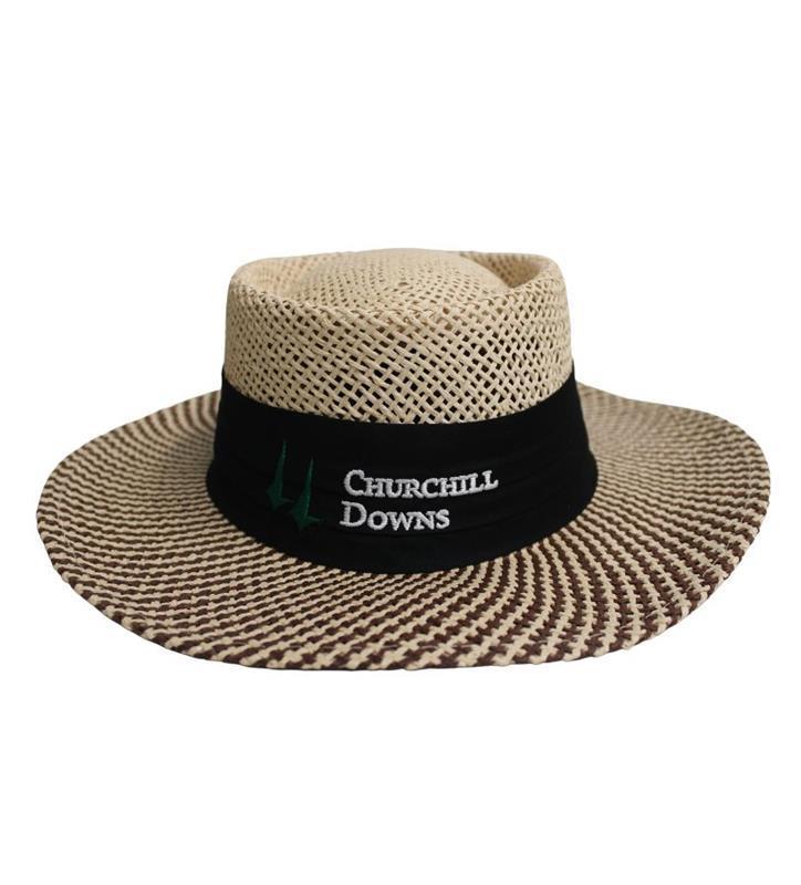 Churchill Downs Gambler Hat,S81PML-1 NATURAL NVY