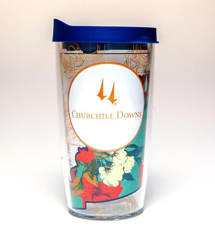 Churchill Downs Floral State Tumbler,16OZFLORALSTATERED
