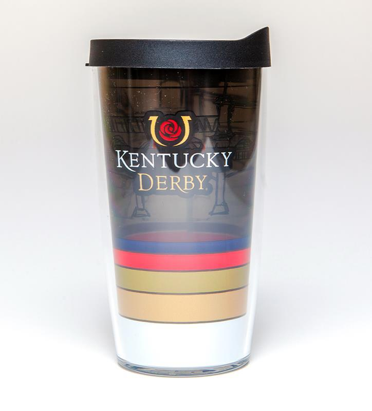 Kentucky Derby Striped Tumbler,16OZ-KD STRIPEDRED