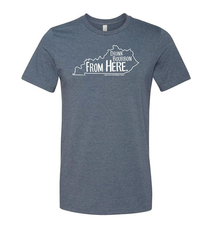 Drink Bourbon From Here Tee,KBT9515