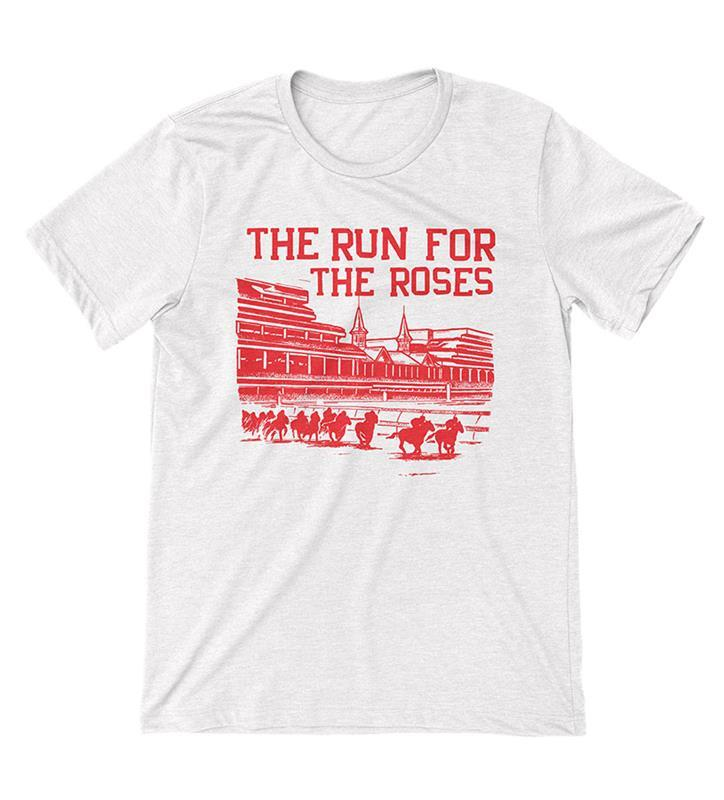 Run for the Roses Tee by Old Smoke,Old Smoke Clothing Co,3-WHITE-UNISEX