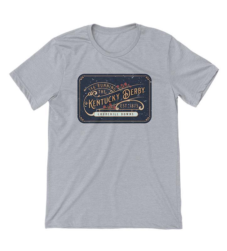 Kentucky Derby 146 Vintage Billboard Tee,Old Smoke Clothing Co,3-GREY-UNISEX