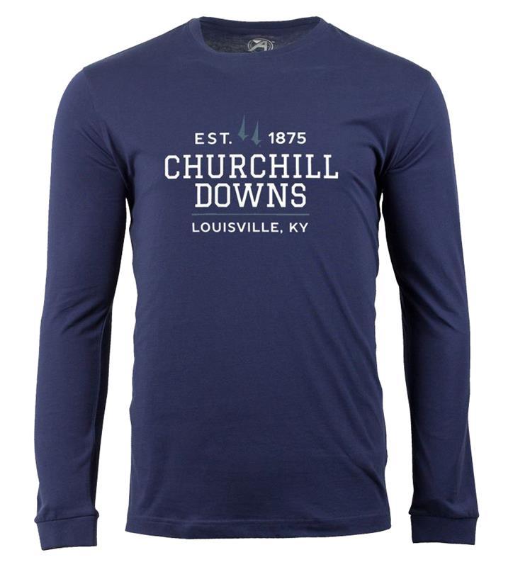 Churchill Downs Long-Sleeve Spires Block Tee,ST48-CSPCDOWNS#005