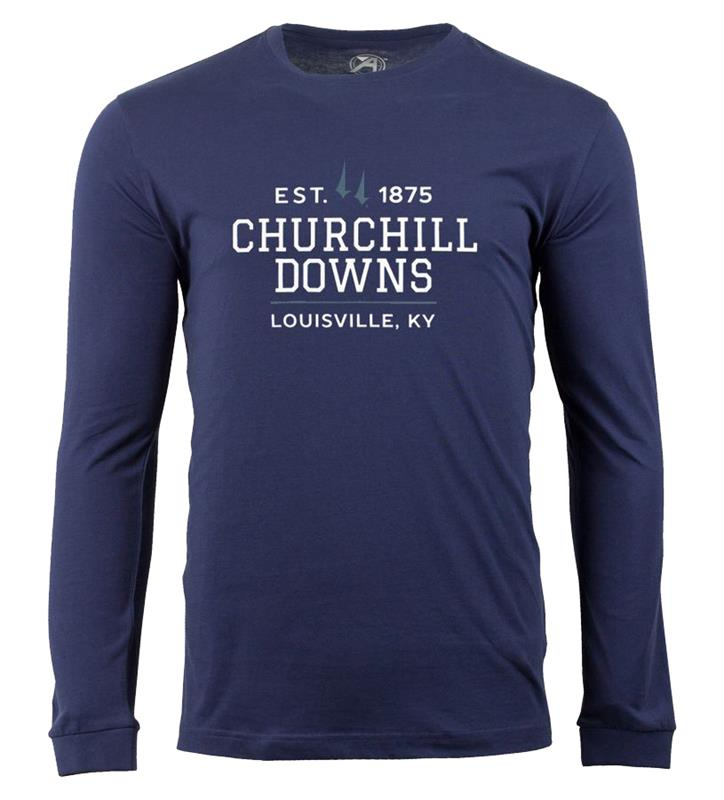 Churchill Downs Long-Sleeve Spires BlockTee,ST48-CSPCDOWNS#005