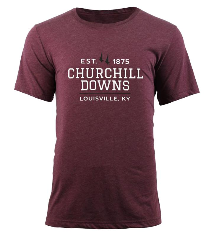 Churchill Downs Crew Tee,TS57-CSPC-DOWNS#005