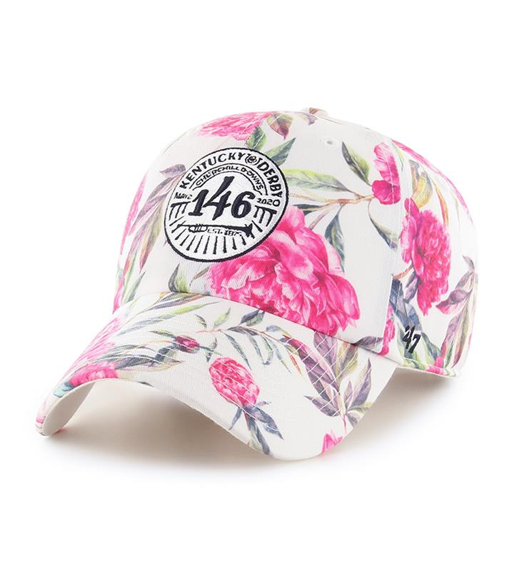 Kentucky Derby 146 Floral Logo Cap,HT-PEONY08PTS-WH
