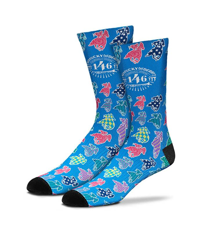 Kentucky Derby 146 Patterned Horse Sock,889536602120-308S